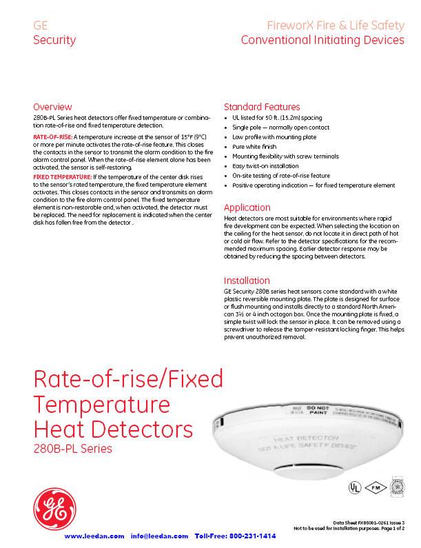 edwards 280b pl firworx heat detectors 281b pl 282b pl. Black Bedroom Furniture Sets. Home Design Ideas