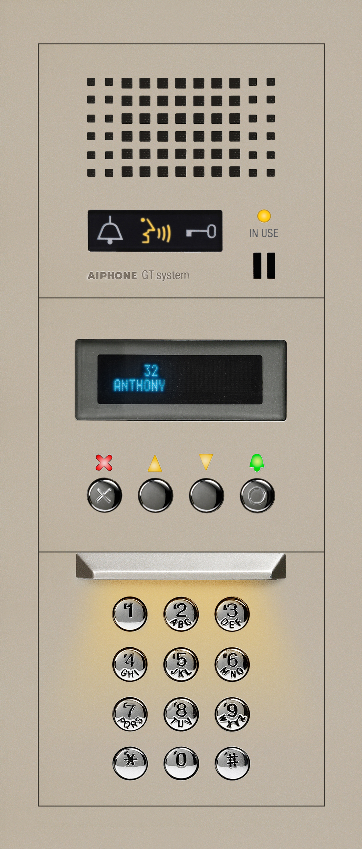 aiphone gta des audio entrance station with digital directory for the gt series intercom. Black Bedroom Furniture Sets. Home Design Ideas