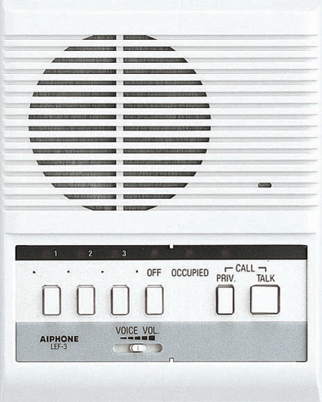 LEF 3 aiphone le a le an single call audio only intercom sub stations aiphone le d wiring diagram at readyjetset.co