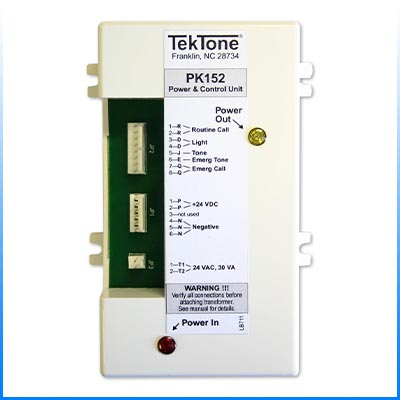 tektone pk152 pk 152 ul annunciator power unit