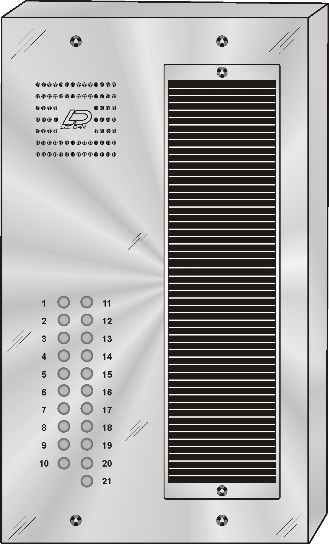 QS-021S 21 Button Panel