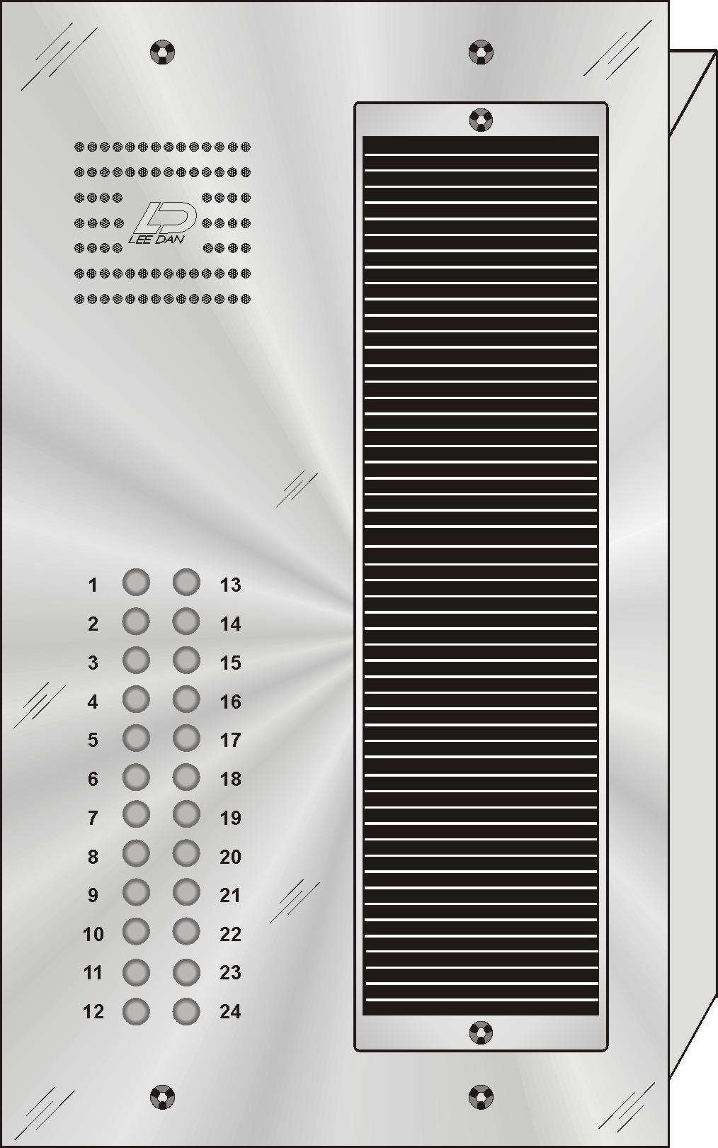 Lee Dan Qs 024 24 Button Quantum Style Stainless Steel Intercom Door